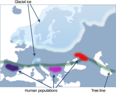 Ice Age Europe (18,000 years ago)